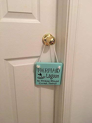 Mermaid Lagoon Nursery Girls Room Door Sign Hanger