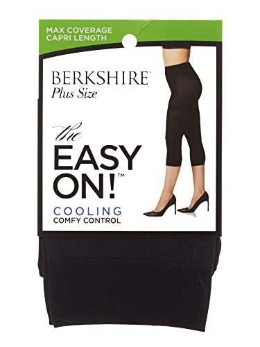 Berkshire The Easy On! Plus Size Max Coverage Capri Length Tights, Black, 5X-6X