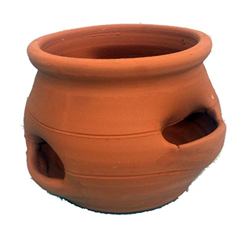 Strawberry Jar Planter (Short Strawberry Pot - Herb Jar - Terracotta - 4 Pocket)