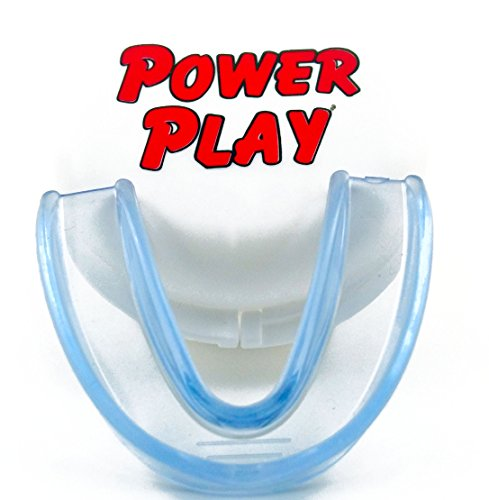 Power Play Mouth Guard. Best moldable strapless single mouthguard for sports: hockey, football, boxing, basketball, martial arts, wrestling. Include mouth guard case. Fits Youth and Adults. (The Sport Of Boxing)