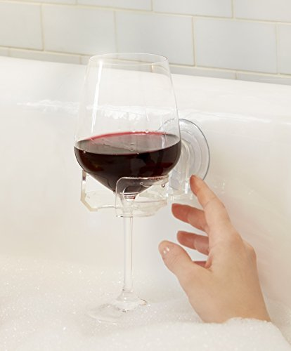 Wine Accessories (SipCaddy Bath & Shower Portable Suction Cupholder Caddy for Beer & Wine,)