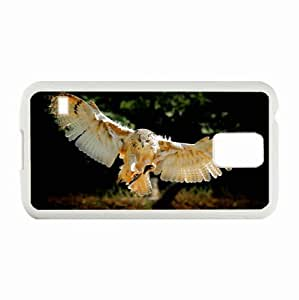 Personalized Samsung Galaxy S5 Case,Custom Samsung SV Back Cover Diy PC Hard Shell Case Owl White