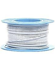 MK86a-0100: كابل محوري RG6 ، 75 أوم ، 110 ديسيبل ، 100 متر ، PVC أبيض