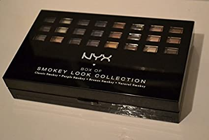 NYX Box of Smokey Look Collection Makeup Eye Shadow Blush Lip Color Palette