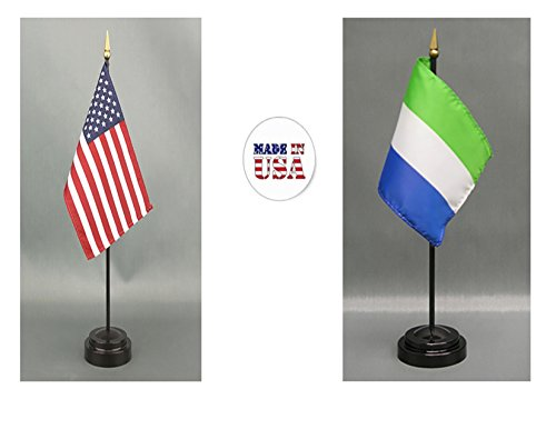 (Made in The USA. 1 American and 1 Sierra Leone Rayon 4