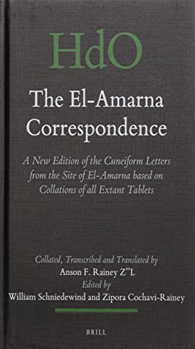 - The El-Amarna Correspondence (2 Vol. Set): A New Edition of the Cuneiform Letters from the Site of El-Amarna Based on Collations of All Extant Tablets ... Studies: Section 1; The Near and Middle East)