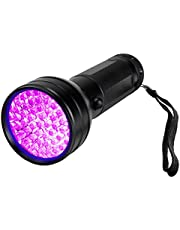 Bright Flashlight 51 LED UV Flashlights Ultraviolet Lights Detector for Dog Urine Pet Stains and Bed Bug Zoomable Flashlight