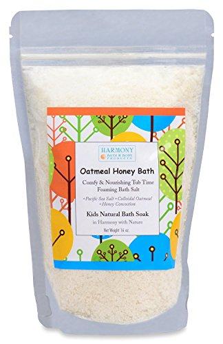 Best Oatmeal Honey Kids Bath - Natural Pacific Sea Salt - Comfy & Nourishing for The Skin - Tub Time Foaming Bath Salt Soak - All Natural ()