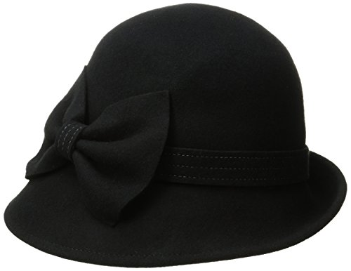 Collection XIIX Women's Mod Bow Cloche Hat, Black, One Size