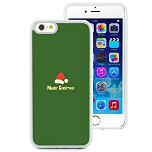 NEW Unique Custom Designed iPhone 6 4.7 Inch TPU Phone Case With Minimalistic Merry Christmas Red Hat Green_White Phone Case
