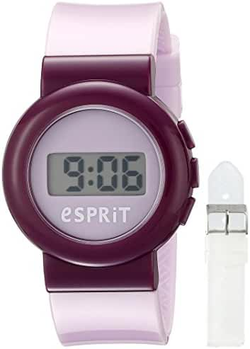 Esprit Kids' ES105264004 Digital Purple Watch with Interchangeable Straps Set