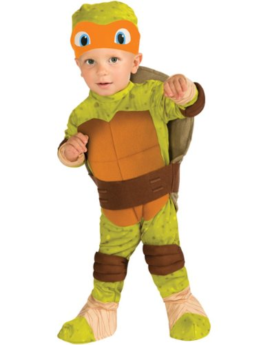 Ninja Turtle Costumes For Toddlers (Teenage Mutant Ninja Turtle Toddler Costume Michelangelo (Orange) - Toddler)
