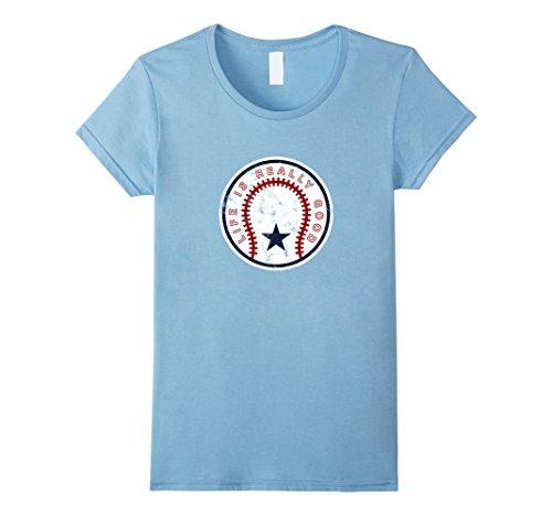 Womens Life Is Really Good Baseball T-Shirt Large Baby Blue Life Is Good Baseball T-shirt