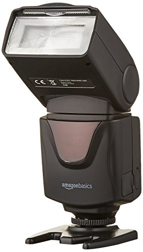 AmazonBasics Electronic Flash for DSLR Cameras (Canon, Nikon)