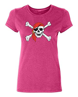 Promotion & Beyond P&B Pirate Skull Crossbones Party Women's T-Shirt