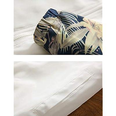 Rexcyril Men's Windbreaker Jacket, Floral Bomber Jacket Hooded Lightweight Zip-up Drawstring Flower Coat at  Men's Clothing store