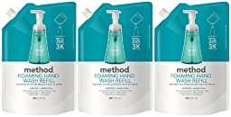 Method Foaming Handwash Refill, Waterfall, 28oz, 3pk