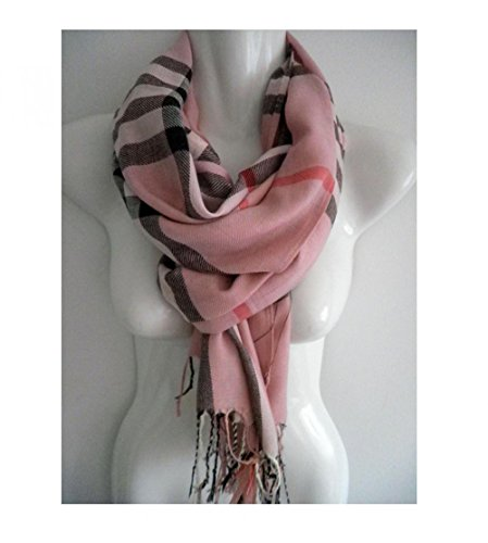 Pink_(US Seller)Long Soft Stole Shawl Wrap 76