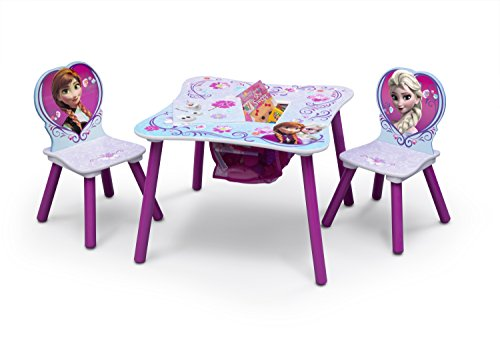 Delta Children Kids Chair Set and Table (2 Chairs Included), Disney Frozen