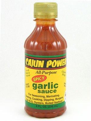 Cajun Power Spicy Garlic All Purpose Sauce 8oz (Pack of 3) Cajun Power Spicy Garlic Sauce