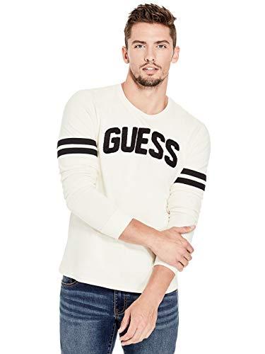 GUESS Factory Men's Rhett Logo - White Jacket Guess