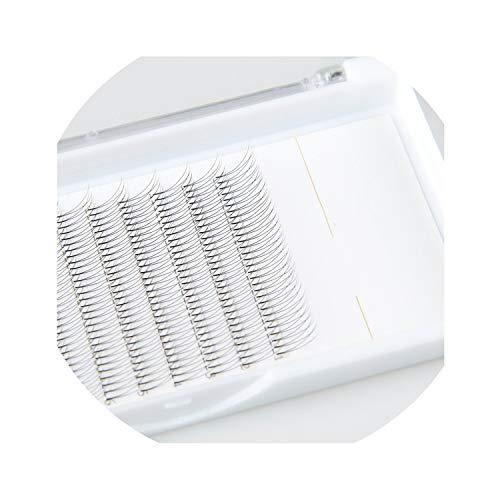2D soft natural mink false eyelashes 360 fans each box hand-made mink eyelash extensions premium fake eyelashes faux cils,J,0.10mm,12mm ()