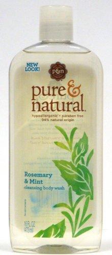 Чистый и естественное очищение для мытья тела, Розмари и Монетный двор, 16 Oz (в упаковке 3)