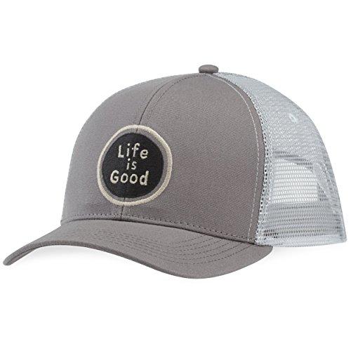 Life Good Winter Hats - Life is Good Hard Mesh Back Hat Lig Circle, Slate Gray, One Size