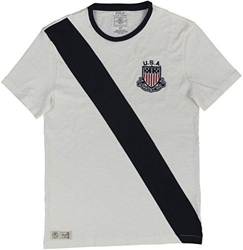 Polo Ralph Lauren Men's 2016 Olympic USA Team T-Shirt Large Dakwash White