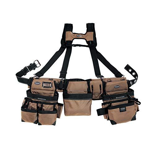Bucket Boss 55185-TN 3-Bag Apron Tool Framer's Rig, 29 P