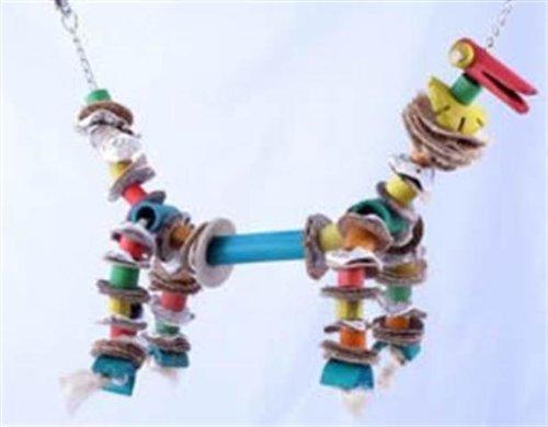 Planet Pleasures BamBoozlers Dog Shape Bird Swing.Small 12inHt x 8inW, My Pet Supplies