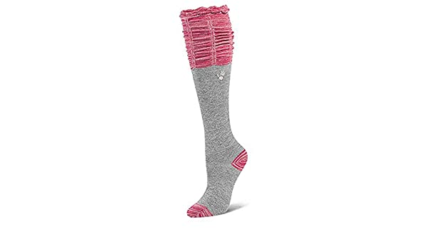 23fe68a3908 Amazon.com  BEARPAW KIDS SCRUNCH TOP KNEE HIGH SOCKS GRAY PINK SIZE 7-9   Shoes