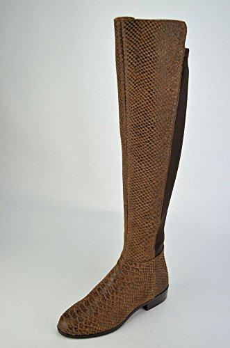 - Michael Kors Bromley Flat Boots Women's Mocha Leather Knee-high US5m