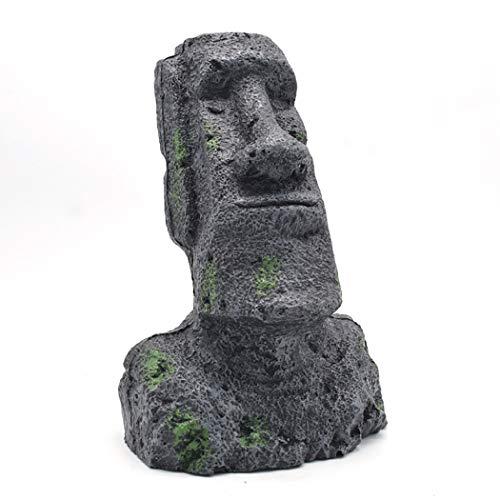 (Funpa Easter Figurine Resin Figurine Easter Island Statue for Desk Decor)