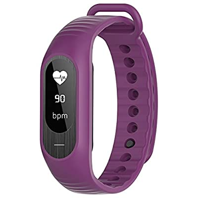 Bozlun Fitness Tracker B15P with Blood Pressure Heart Rate Monitoring Pedometer Calorie Sleep Tracking OLED Display - Purple