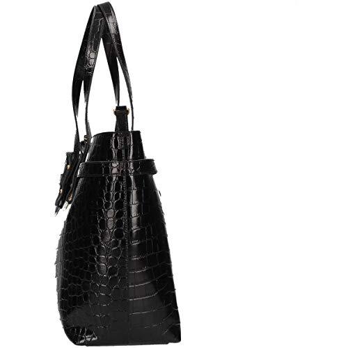 L W Peony 56x16 cm GUESS Mujer Shoppers 5x33 Negro hombro de x Black y bolsos Bla H a1O1qd