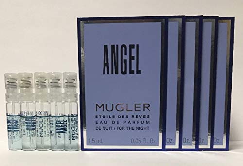 5 Mugler Angel Etoile Des Reves Eau De Parfum Spray Sample Vial 0.05 oz/1.5 ml each For Women ()