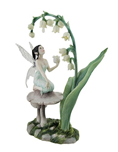 Veronese Resin Statues Lily Of The Valley Flower Fairy Statue By Artist Rachel Anderson 11 Inch 7 X 10.5 X 4.5 Inches Green