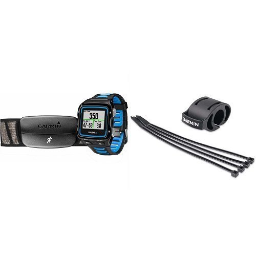 Garmin Forerunner 920XT Black/Blue Watch w/ HRM Run and Bicycle Mount Kit by