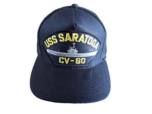 USS Saratoga CV-60 Navy Ship HAT U.S Military Official Ball Cap U.S.A Made