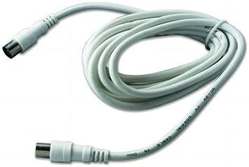 Alargador de antena de TV macho/hembra, color blanco, 2,5 m ...