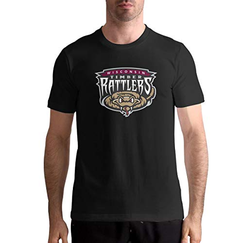 Wisconsin Timber Rattlers Man's Leisure Tee Athletic XL Black ()