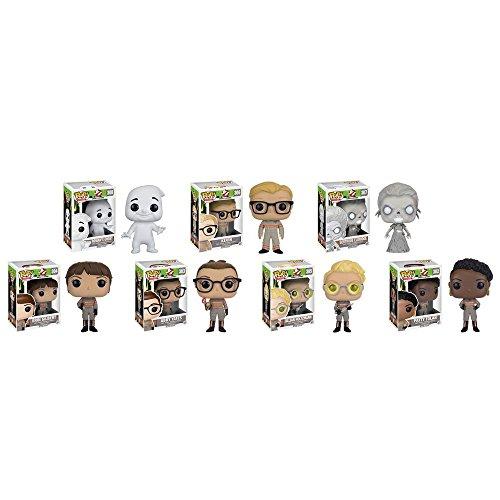 Ghostbusters 2016 Movie Patty Tolan,Abby Yates,Erin Gilbert,Jillian Holtzmann,Gertrude Eldridge,Rowan's Ghost,Kevin Pop! Vinyl Figures Set of 7