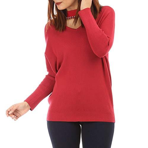 Rojo Modeuse Mujer Jerséi La Para PcIw0qqg