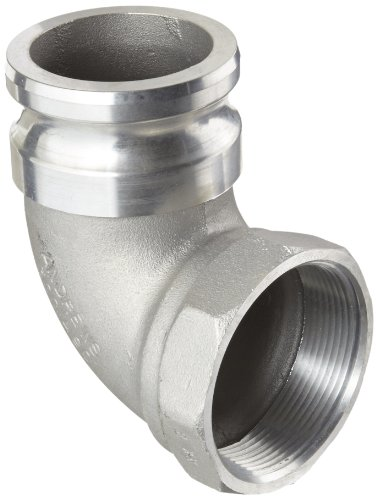 Dixon 300A-90AL Aluminum Type A Cam and Groove Hose Fitting, 90 Degree Elbow, 3