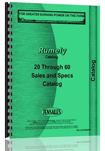 - Rumely 20-60 Sales Brochure Catalog Manual