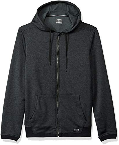 Hurley Men's Nike Dri-Fit Disperse Fleece Hoodie, Black//Anthracite, L