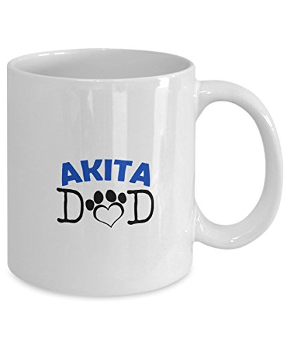 Funny Akita Couple Mug - Akita Dad - Akita Mom - Akita Lover Gifts - Unique Ceramic Gifts Idea (Dad) 2