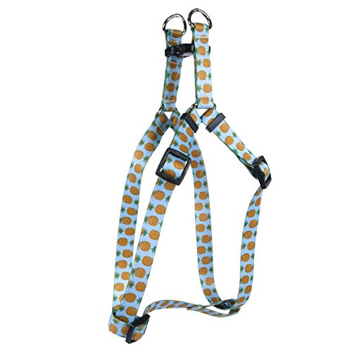 Yellow Dog Design Pineapples Blue Step-in Dog Harness, Small-3/4 Wide and fits Chest of 9 to 15