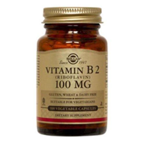 Vitamin B2 (Riboflavin) 100 mg Vegetable Capsules, 100 mg, 100 V Caps (Pack of 2)
